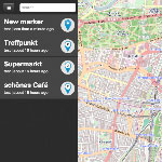 screenshot of the mapchat application