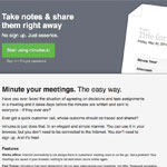 screenshot of the minutes.io meeting notes app