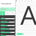 screenshot of the prototypo.io font editor app