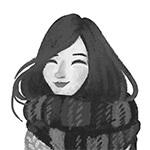 Portrait photo(black and white) of Carolina Buzio.