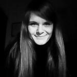Portrait photo(black and white) of Julia Schmidt.