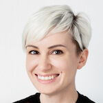 Portrait photo(colour) of Jenn Turner.